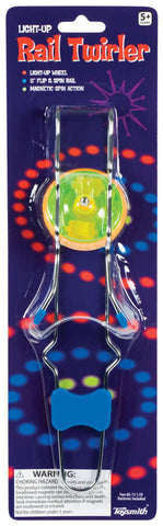 Light Up Rail Twirler w Magnetic Light up Wheel