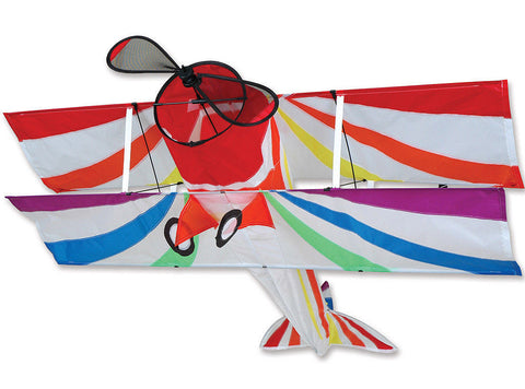 Large Rainbow Biplane Kite 41 X 40 Inches