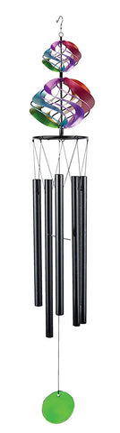 "Double Rainbow Cosmix Wind Chimes 35"" Long"