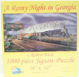 Rainy Night in Georgia - Train Jigsaw Puzzle - 1000 pc