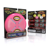 Flite by Nite Raspberry Lumi-Niter Glow in the Dark Light Up Flying Disc w GlowSticks
