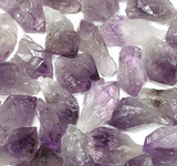 7 Pieces  Unpolished Amethyst Gemstone Crystals w/Bag