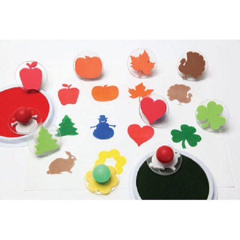 Ready2Learn Set of 10 Giant Holiday Stampers w Case