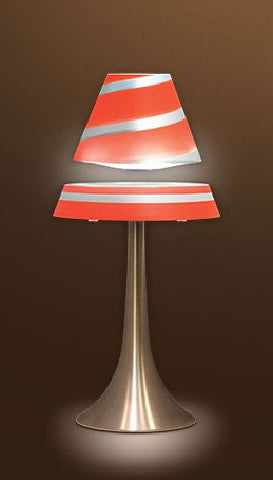Levitron Lamp - Levitating LED Table Lamp - Red With Silver Stripe