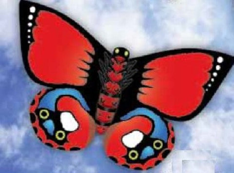 WindnSun Indian Red Butterfly Nylon Kite-32 Inches Wide