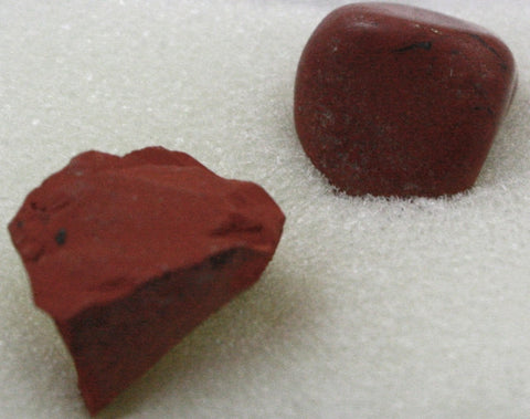 RED JASPER Rock/Mineral Before & After Polishing Set