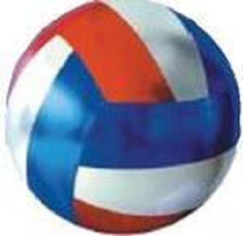 Y'all Ball Mini 6 Inch Inflatable Fun Ball - Red/Silver/Blue