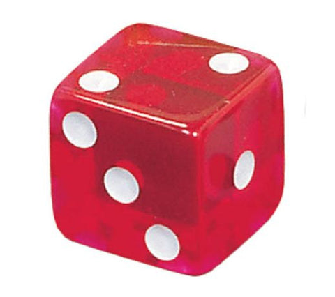 Game Dice 5/8 in. Red-Pack of 20