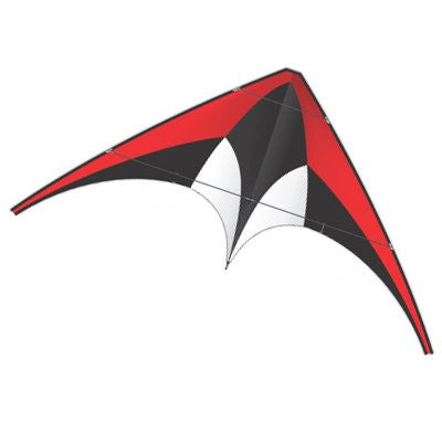 Red X-Kite Nylon DC SPORT Stunt Kite - 5 Feet Wide - Dual Control