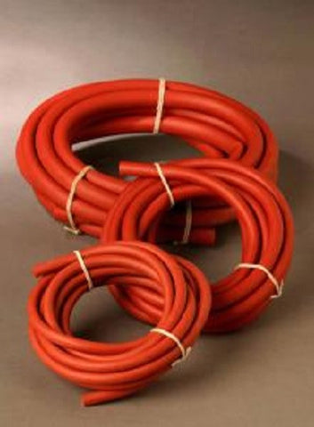 1/4 Inch Diameter Red Rubber Tubing - 10 Foot Length