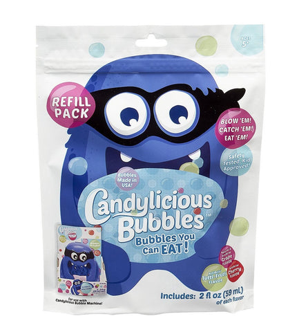 Candylicious Edible Bubbles - Candy Bandit Bubble Machine Refill Pack by Little Kids