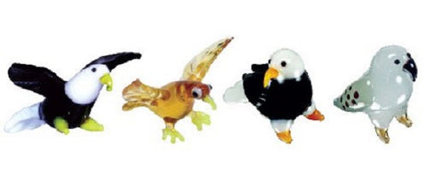 Looking Glass Torch Figurines - 2 Different Eagles, Hawk & Falcon (4-Pack)
