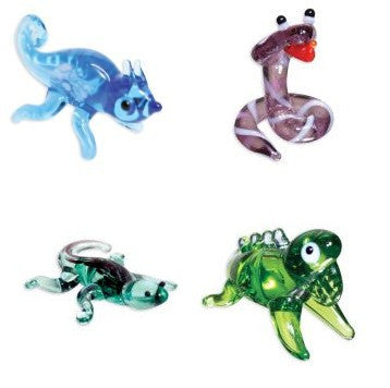 Looking Glass Torch Figurines - Set of 4 Reptile Figures