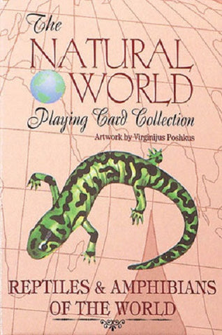 REPTILES & AMPHIBIANS of the Natural World Art Playing Cards