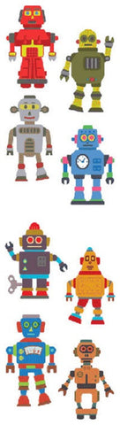 Full Roll - Mrs Grossman's Stickers - Robots