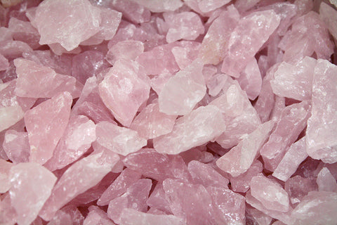 BULK Pale Pink Rose Quartz Crystal Mineral Chips, Rough - 10 Pounds