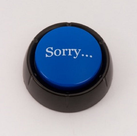 The SORRY Button Electronic Voice - 12 Versions of Apology - Novelty Desk Toy