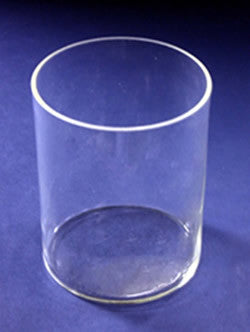 2L Cylindrical Battery Jar, Heavy Walled Glass