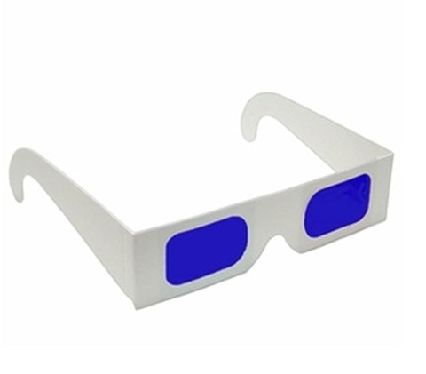 Decoder Glasses for Sweepstakes and Prize Giveaways-Blue/Blue-White Frame