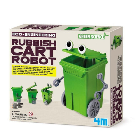 4M Eco Engineering Rubbish Cart Robot Green Science & Learning Kit