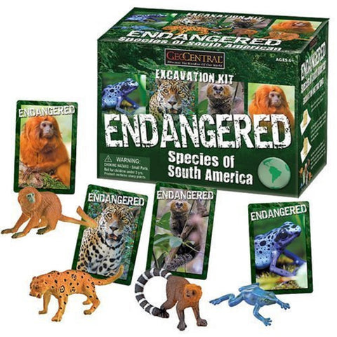 Endangered Species of South America Excavation Kit Set of 4 Animals
