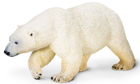 Polar Bear - Lifelike Rubber Wildlife Replica 10.25 Inches