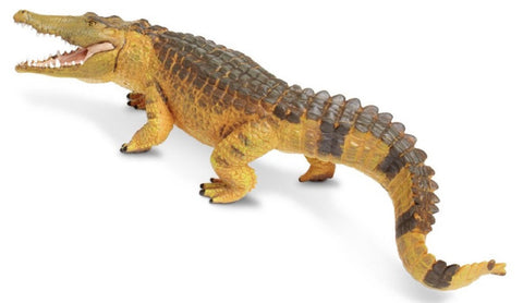 Saltwater Crocodile - Lifelike Rubber Wildlife Replica 11 Inches