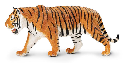 Siberian Tiger - Lifelike Rubber Wildlife Replica 10 Inches