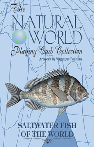 SALTWATER FISH of the Natural World Art Deck of Playing Cards