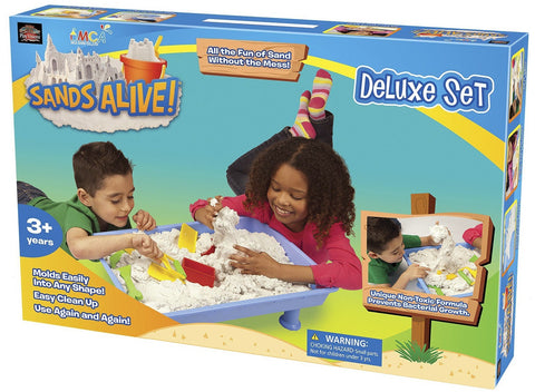Deluxe Sands Alive! Set w/Sand, Tools, Molds & Large Tray