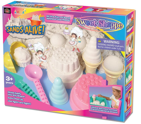Sands Alive! Sweet Shoppe Set w/Sand, Molds & Tray