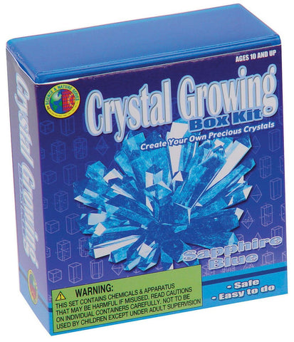 Sapphire Blue Crystal Growing Box Kit 6 Colors Available