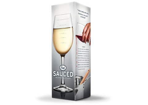 SAUCED Measuring Wineglass  By Fred & Friends
