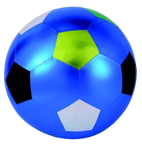 Y'all Ball 32 Inch Inflatable Blue Black Silver Green Soccer Pattern