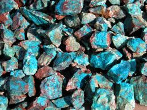 1 Pound Unpolished Chrysocolla Gemstones - Online Science Mall