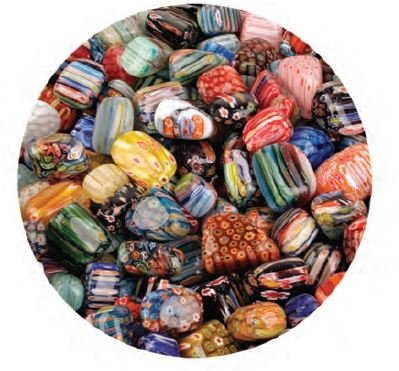 Beautiful Impressionistic Art Glass Pieces; Tumbled & Polished 1 Pound