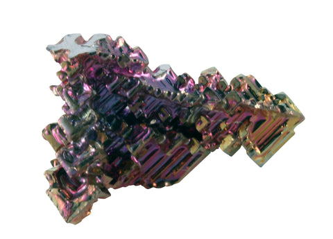 10 Small Bismuth Crystal Specimens - Less Than 1/2 inch w One Info Card - Online Science Mall