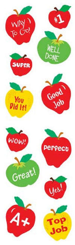 Full Roll - Mrs Grossman's Stickers - School Days Apple