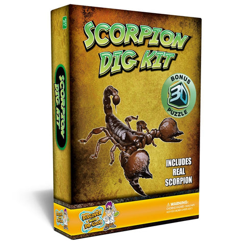 Puzzle Master Scorpion Dig Kit w 3D Model by Discover w Dr Cool
