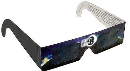 Eclipse Glasses CE Certified Safe Solar Shades Black Frame - Pack of 30
