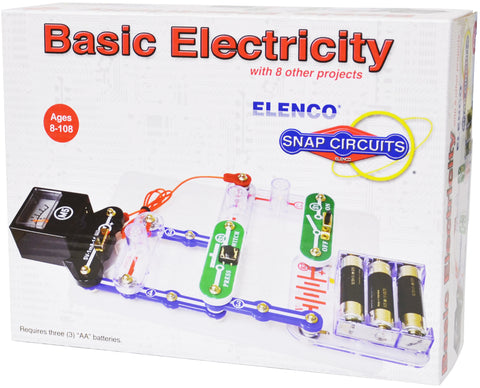 Snap Circuits Basic Electricity Kit w/9 Projects by Elenco