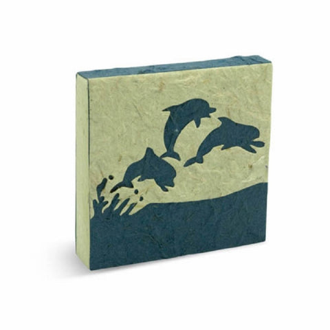 PooPoo Paper - Dolphin Scratch Pad - Made of Recycled Elephant Poo