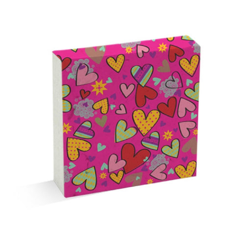 PooPoo Paper Hearts Scratch Pad Made of Recycled Elephant Poo