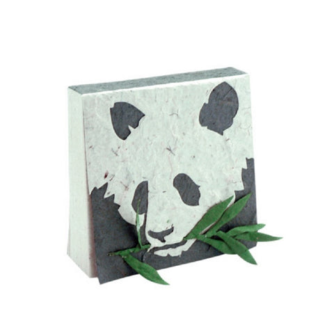 PooPoo Paper Panda Face Scratch Pad Made of Recycled Panda Poo