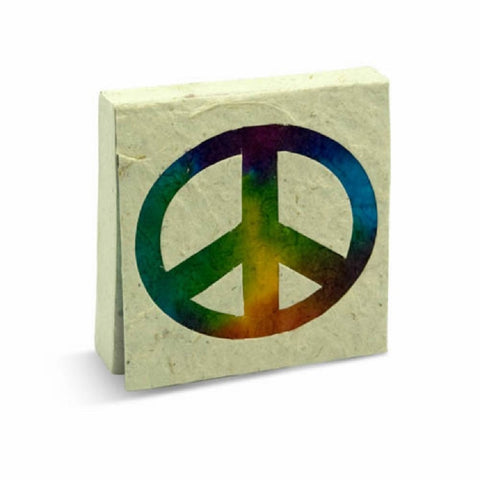 PooPoo Paper - Peace Sign Scratch Pad - Made of Recycled Elephant Poo