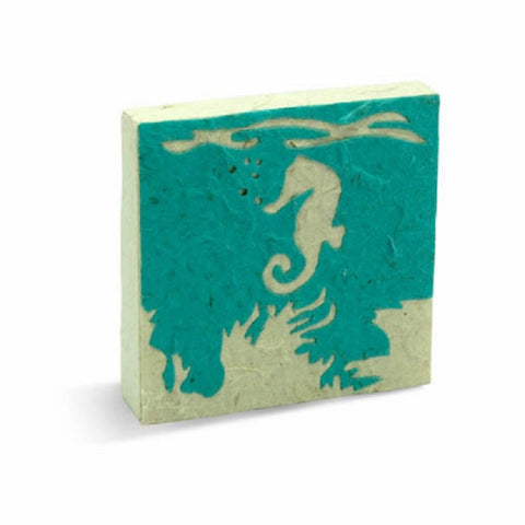 PooPoo Paper -  Sea Horse Scratch Pad - Made of Recycled Elephant Poo