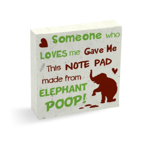 PooPoo Paper Someone Who Loves Me Scratch Pad Made of Recycled Elephant Poo