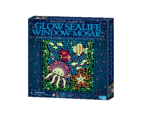 Glow Sealife Window Mosaic Picture Kit by 4M