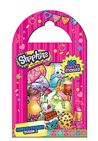 Shopkins Cartoon Characters Confetti Stickers, Pack of 100 Stickers - Season 2, by Mrs. Grossman