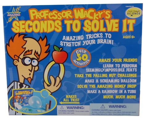 Be Amazing! Professor Wacky's Seconds to Solve It Experiment Kit
